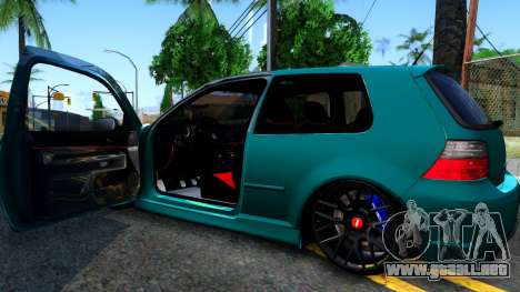VW Golf 4 para visión interna GTA San Andreas
