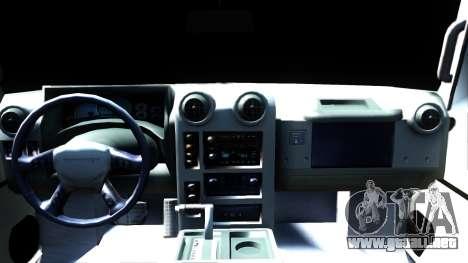 Hummer H2 para visión interna GTA San Andreas