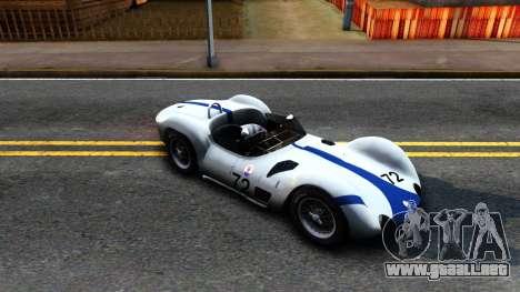 Maserati Tipo 61 para GTA San Andreas left