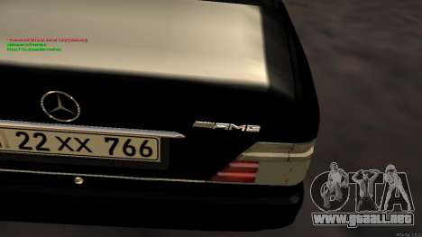 Mercedes-Benz W124 E500 Armenian para visión interna GTA San Andreas