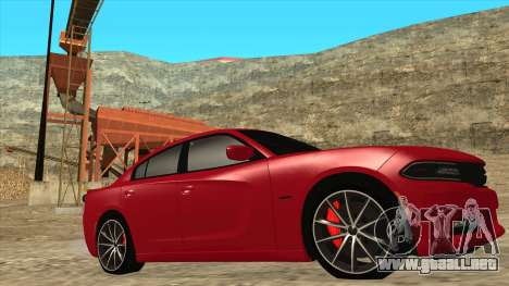 Dodge Charger R/T 2015 para GTA San Andreas left