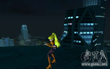 Stella Rock Outfit from Winx Club Rockstars para GTA San Andreas segunda pantalla
