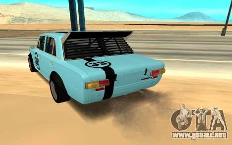 VAZ 2101 Autosport para GTA San Andreas vista posterior izquierda