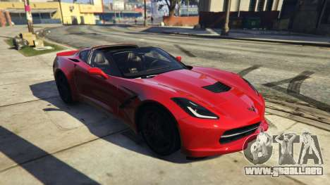 GTA 5 2014 Chevrolet Corvette C7 Stingray vista lateral trasera derecha