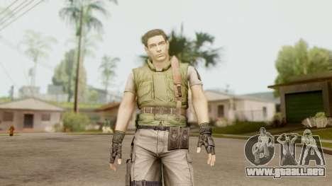 Resident Evil HD - Chris Redfield S.T.A.R.S para GTA San Andreas segunda pantalla