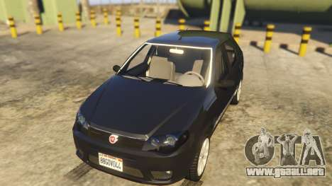 GTA 5 Fiat Palio Way Brasil 2015 vista trasera