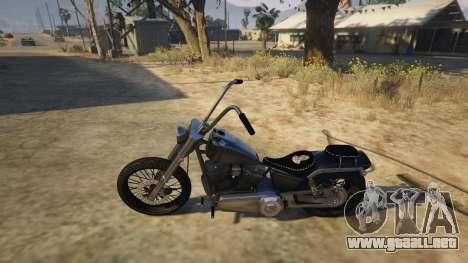 GTA 5 Daemon SOA Harley-Davidson vista lateral trasera derecha