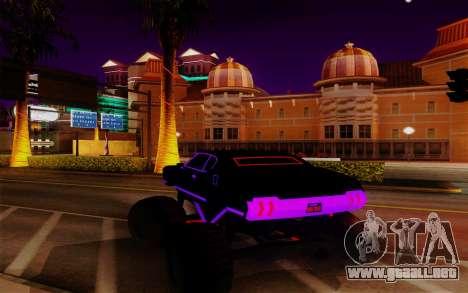 Cyber Sabre XL para GTA San Andreas vista posterior izquierda
