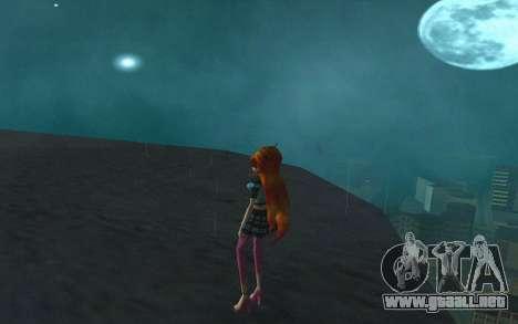 Bloom Rock Outfit from Winx Club Rockstar para GTA San Andreas tercera pantalla