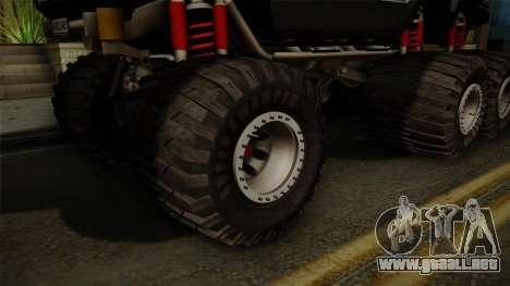 Hummer H2 6x6 Monster para GTA San Andreas vista hacia atrás