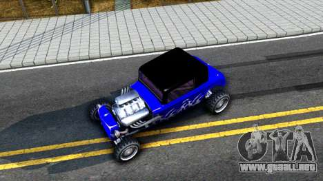 Duke Blue Hotknife Race Car para GTA San Andreas vista hacia atrás