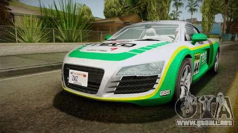 Audi R8 Coupe 4.2 FSI quattro EU-Spec 2008 para el motor de GTA San Andreas
