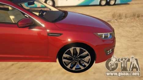 GTA 5 KIA Optima 2014 vista lateral derecha