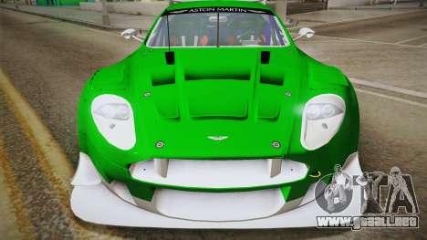 Aston Martin Racing DBR9 2005 v2.0.1 YCH Dirt para la visión correcta GTA San Andreas