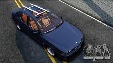 BMW e39 530d para la visión correcta GTA San Andreas