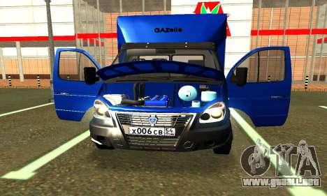 Gazel 3302 Negocio para GTA San Andreas vista hacia atrás