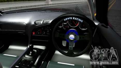 Mazda RX-7 Madbull Rocket Bunny para visión interna GTA San Andreas