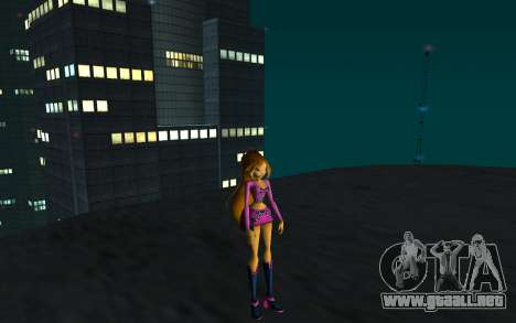 Flora Rock Outfit from Winx Club Rockstars para GTA San Andreas