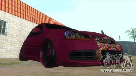 Volkswagen Golf MK para GTA San Andreas vista hacia atrás