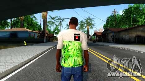 Design Weedleaves T-Shirt para GTA San Andreas tercera pantalla