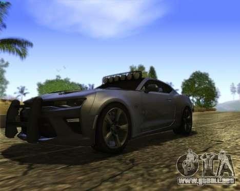 Chevrolet Camaro SS Xtreme para visión interna GTA San Andreas