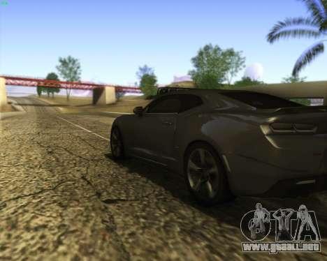Chevrolet Camaro SS Xtreme para vista lateral GTA San Andreas