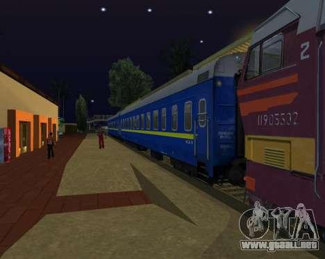 Compartimiento de coche Ferrocarriles de ucrania para GTA San Andreas left
