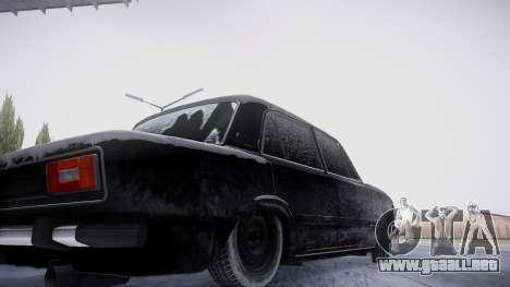 VAZ 2106 versión de invierno para visión interna GTA San Andreas