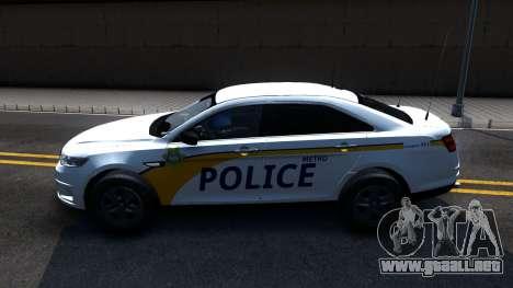 Ford Taurus Slicktop Metro Police 2013 para GTA San Andreas left