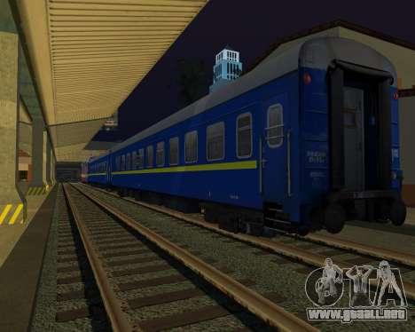 Compartimiento de coche Ferrocarriles de ucrania para la visión correcta GTA San Andreas