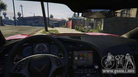 GTA 5 2014 Chevrolet Corvette C7 Stingray vista lateral derecha