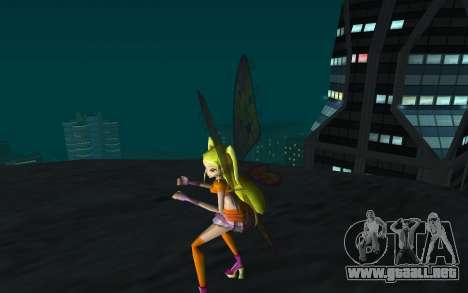 Stella Believix from Winx Club Rockstars para GTA San Andreas tercera pantalla