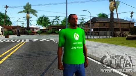 T-Shirt Xbox1 para GTA San Andreas segunda pantalla