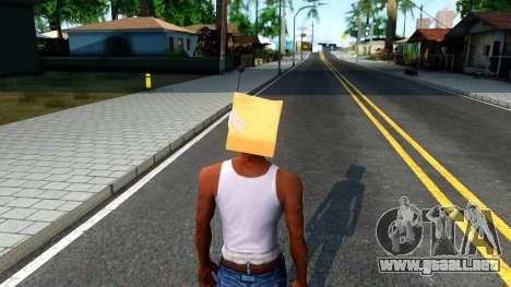 Bot Fan Mask From The Sims 3 para GTA San Andreas tercera pantalla