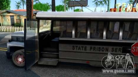Prison Bus Driver Parallel Lines para visión interna GTA San Andreas