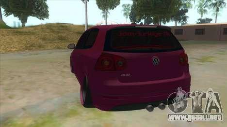Volkswagen Golf MK para GTA San Andreas vista posterior izquierda