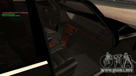 Mercedes-Benz W124 E500 Armenian para la vista superior GTA San Andreas
