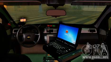 2008 Chevrolet Impala LTZ County Sheriff para la visión correcta GTA San Andreas