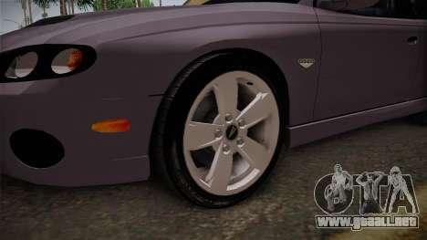 Pontiac GTO Hot Wheels NASCAR PJ para GTA San Andreas vista hacia atrás