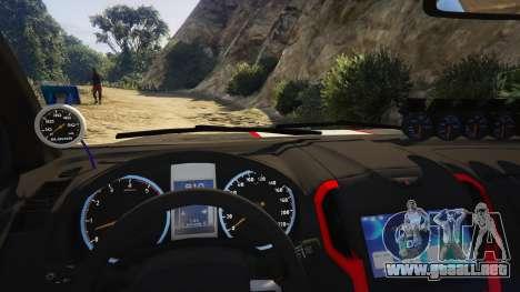 GTA 5 Isuzu D-Max X-Series 2015 vista lateral trasera derecha