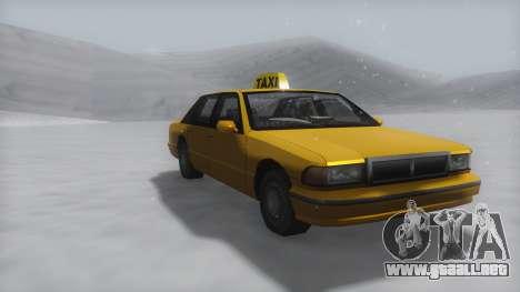 Taxi Winter IVF para GTA San Andreas
