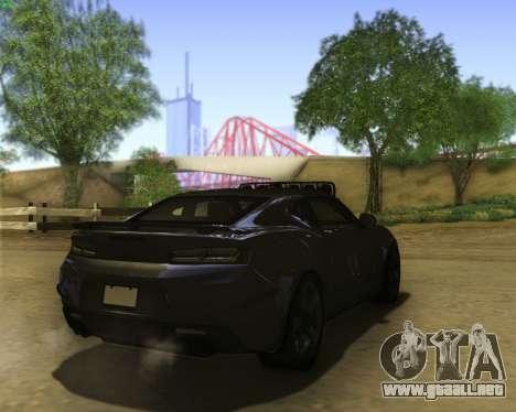 Chevrolet Camaro SS Xtreme para la visión correcta GTA San Andreas