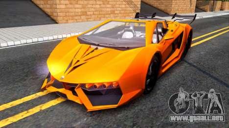 GTA V Pegassi Lampo Roadster para GTA San Andreas