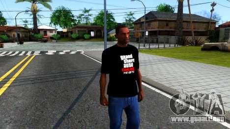 GTA Online T-Shirt para GTA San Andreas segunda pantalla