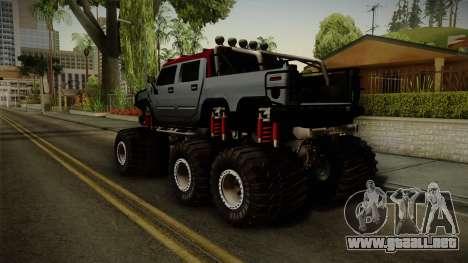 Hummer H2 6x6 Monster para GTA San Andreas left