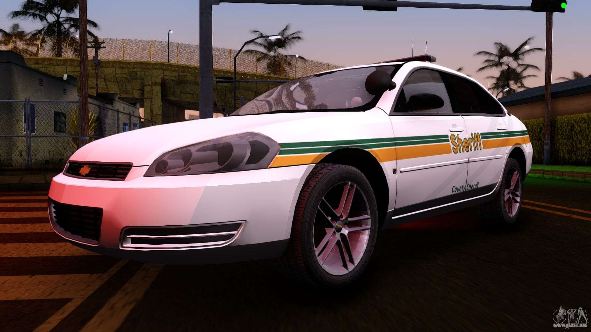 2008 chevrolet impala ltz county sheriff para gta san andreas. Black Bedroom Furniture Sets. Home Design Ideas