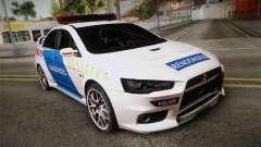 Mitsubishi Lancer Evo X De La Policía