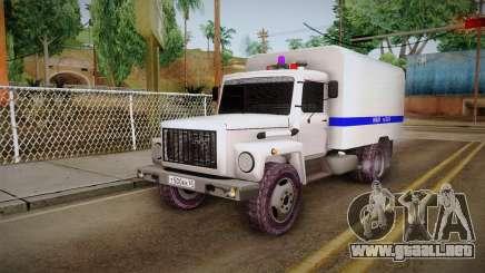 GAZ 3309 Policía para GTA San Andreas