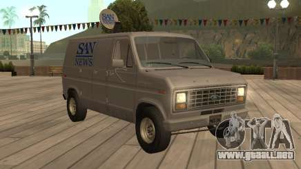 Ford E150 Noticias Van para GTA San Andreas