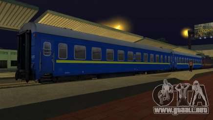 Compartimiento de coche Ferrocarriles de ucrania para GTA San Andreas